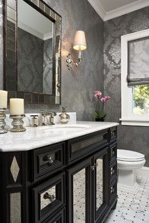 This powder room is everything!