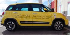 #vehiclegraphics #vehiclewraps #vehiclelettering #installationservices #vehiclegraphicsdesigns #SignaramaColorado #Signs #colorado Vehicle graphics and vinyl lettering for Beeline Quilting