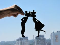 Art made out of one piece of paper by the Ukrainian duo Dmytro and Juliia (http://www.etsy.com/shop/DreamPapercut)