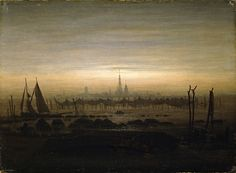 Caspar David Friedrich, Greifswald in Moonlight, c. 1817