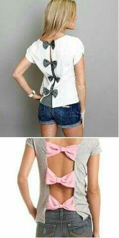 Diy t shirts 584905070324600108 - How to Make Bow Back T-shirt – DIY Tutorial Source by Shirt Refashion, T Shirt Diy, Clothes Refashion, Old T Shirts, Cut Shirts, Band Shirts, Diy Kleidung, Diy Vetement, Clothing Hacks