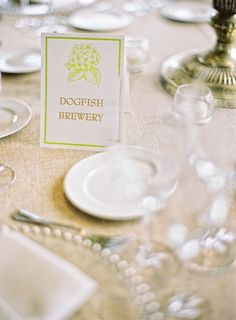 Tables Names Inspired By the Couple's Frequented Spots | Jordan Brian Photography | TheKnot.com