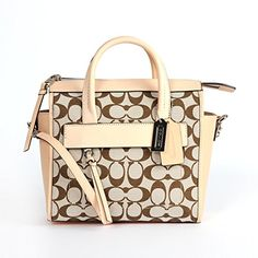 Coach 30168 Bleecker Signature Mini Riley Carryall Light Khaki Madeira/vch * You can get more details by clicking on the image.