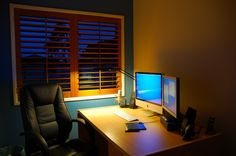 This is Beautiful Window And Computer Desk Furniture Design Item of Home Office Design Ideas. Home Office and Workplace interior design ideas. Computer Desk And Study Table Desk. Home Office Furniture Design, Home Office Design, Shelf Design, Table Desk, Blinds, Windows, Interior Design, Beautiful, Design Ideas