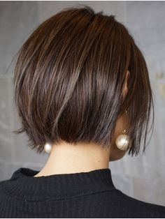 46 Perfect Short Hairstyles for Fine Hair in 2019 - Style My Hairs Haircuts For Fine Hair, Short Bob Hairstyles, Short Straight Hair, Short Hair Cuts, Medium Hair Styles, Curly Hair Styles, Chin Length Hair, Great Hair, Hair Today
