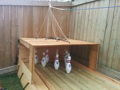 Turn the backyard into your very own bowling alley by DIY Ready at http://diyready.com/build-your-own-backyard-bowling-alley/