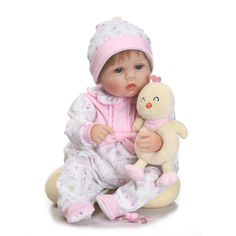 86.48$  Watch here - 17inch 45cm Reborn Babies Doll Toys for Girls Silicone Reborn Baby Dolls American Girl Doll Brown Blue bebes reborns dolls  #magazineonlinewebsite