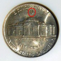 How to Identify Silver War Nickels The mint mark must be above the Monticello.