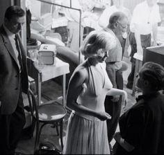 "Marilyn Monroe on the set of ""Let's Make Love"" 1960"
