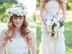 beautiful head crown for summer weddings