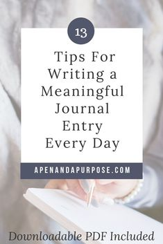 Learn how to write a journal entry nearly every day. Several tips on how to write journal entries as well as how to keep up with your journal on a consistent basis. Useful for regular journaling and bullet journaling. I love using journaling for self improvement and personal development. #journaling #bulletjournal #selfimprovement