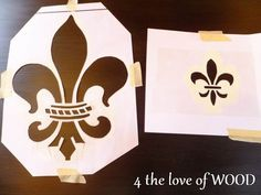 4 the love of wood: MAKE YOUR OWN STENCILS - sheet music dresser