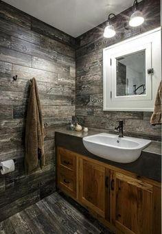 Fabulous Rustic Farmhouse Vanity Bathroom Design Ideas