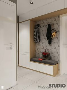 Modern Entryway Bench with Storage . Modern Entryway Bench with Storage . Small Modern Entryway Shoe Storage Design Bined with Closet Design, White Hallway, Hallway Storage, Entryway Storage, Closet Designs, Hallway Closet, Home Entrance Decor, Hallway Furniture, Closet Remodel