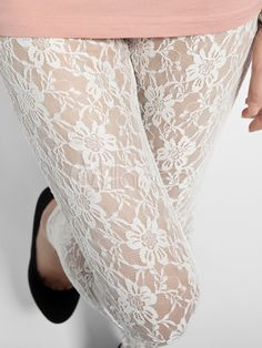 Leggings di pizzo bianco dolce femminile - Milanoo.com