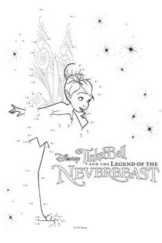 Connect the dots | Tinker Bell and the Legend of the NeverBeast Free Printables, Activities and Crafts! | SKGaleana #Tinkerbell