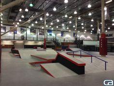 New Vans Street Course at Block of Orange - California Skateparks Indoor Skating, Skating Rink, Skate 3, Skate Park, Skateboard Decks, Thrasher, Bmx, Backyard, Layout