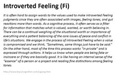 Introverted Feeling (Fi)