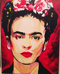 Trendy pop art painting ideas self portraits Ideas<br> Frida Kahlo Artwork, Frida Paintings, Frida Kahlo Portraits, Frida Art, Pop Art Portraits, Portrait Art, Arte Pop, Fridah Kahlo, Arte Fashion
