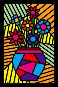 Still Life Romero Britto 3rd Grade Art Lesson, Graffiti Painting, Art Club, Art Plastique, Elementary Art, Art Education, Love Art, Art Lessons, Art For Kids
