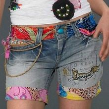 £: Hot Pants 2015 Spring/Summer Fashion New Sell Hot Desigual Embroidery Beaded Jeans Shorts Feminine Women Diy Jeans, Recycle Jeans, Sewing Clothes, Diy Clothes, Diy Fashion, Womens Fashion, Mode Jeans, Recycled Denim, Recycled Clothing