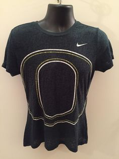 c5aaa692d249 Details about Women s NIKE OREGON DUCKS Scoop Neck Raglan Sheer Top Shirt ~  Sz Large (12-14)