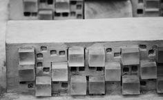 hand made gypsum model, Ivana Linderova, 2014