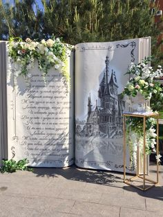 Photo op for guests. Instead of photo booth. May be expensive will have to look at costs or how to create. Rustic Wedding Alter, Enchanted Forest Theme, Disney Inspired Wedding, Storybook Wedding, Wedding Altars, Diy Photo Booth, Photography Backdrops, Event Decor, Dream Wedding