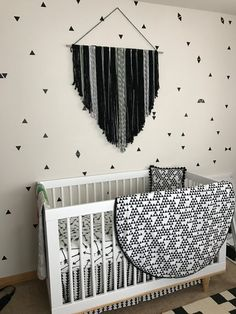 Monochrome Wall hanging black and white home and nursery decor by KlearlyStyled