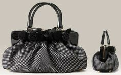 Valentino Houndstooth Fleur Bag Creates Classic Monochrome Classiness on http://www.geekpurses.hk