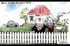 Back to the Olden Days, Alan Moir, Sydney Morning Herald Sunday, September 29, 2013.