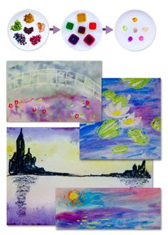 Top 10 Claude Monet Art Projects for Kids Monet was the father of Impressionist painting. Check out our Art appreciation series - 10 Claude Monet Art Projects for Kids - impressionism, lily pond etc Impressionism Art, Impressionist Paintings, Claude Monet Pinturas, Projects For Kids, Art Projects, Montessori Art, Montessori Elementary, Preschool Art, Art Classroom