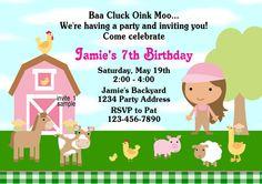Petting Zoo Barnyard Invitation DIY Printable Birthday Party Invites - 1