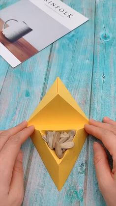 Everybody knows about origami, the Japanese art of paper folding. But what is it that can make origami so magical, … Diy Crafts Hacks, Diy Crafts For Gifts, Diy Arts And Crafts, Creative Crafts, Diy Projects For Men, Diy For Men, Diy Craft Projects, Hobbies And Crafts, Handmade Crafts