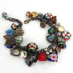 Vintage Style Charm Bracelet Kit by bluestreakbeads.co.uk