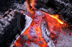 Glowing coals of a cozy campfire. For image licensing enquiries, please feel welcome to contact me at derekwalker73@bigpond.com  Cheers :)