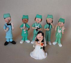 Doctor Wedding Cake Topper  Custom Made by maraluiza on Etsy, $300.00