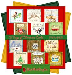 12 Days of Christmas - Deckblätter für Karten (PU,S4H) Scrapbook von…