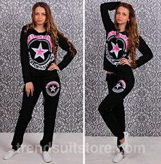 #star #tracksuit Stylish womens star long sleeve tracksuit