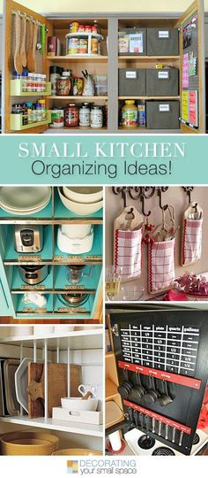 Small Kitchen Organizing Ideas • Tips, Ideas and Tutorials! | Kitchen Decor
