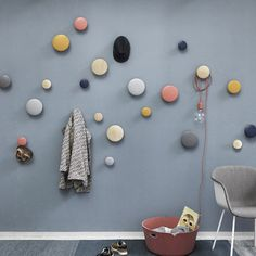 """The Dots Coat Hooks Designer: Lars Tornoe Manufactured by: Muuto Dimensions (in): see Options below Lars Tornoe on the design: """"This characterful little family"""
