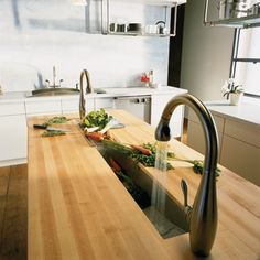 Trough Sink. Could Fill It Up With Ice And Stick Beverages In It For Parties