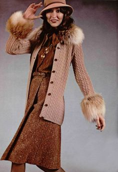 Saint Laurent Rive Gauche 1973 70s tan wool dress suit designer fashion couture