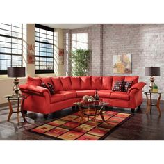 If Youu0027re Looking To Spice Up Your Living Space, This Laguna Sectional In  Red From Woodhaven Speaks And Shouts Boldness And An Instant Invitation To  Lounge. Part 89