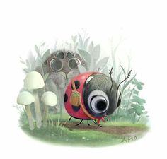 Cute ladybird by Sydney Hanson via Sydwiki.tumblr.com ♥🌸♥