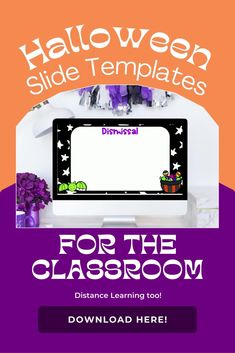 Decorate your classroom for Halloween with these slide templates! Your students will love seeing the bright and fun designs on each slide! Download your slides today!