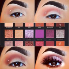 cool professional beauty make-up step by step For more information, visit www. cool professional beauty make-up step by step For more information, visit www. Eyeshadow Looks, Eyeshadow Makeup, Eyeshadows, Eyeshadow Palette, Neutral Eyeshadow, Smokey Eyeshadow, Huda Palette, Makeup Goals, Makeup Inspo