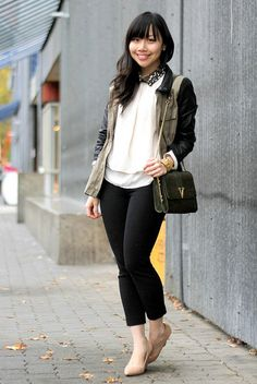 love jacket and shirt. not the bag and shoes