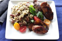 Jamaican Beans and Rice with red kidney beans.