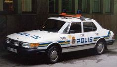 Saab Classic 900 European police car by navarzo4, via Flickr